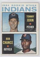 1964 Rookie Stars Indians (Tommy John, Bob Chance)
