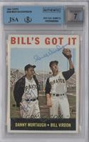 Danny Murtaugh, Bill Virdon [BGS/JSA Certified Auto]
