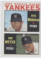 1964 Rookie Stars Yankees (Pete Mikkelsen, Bob Meyer)