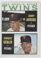 Rookie Stars Twins (Jerry Arrigo, Dwight Siebler)