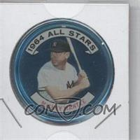 1964 Topps Coins #131.1 - Mickey Mantle (3/4 view)