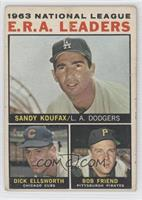 Sandy Koufax, Dick Ellsworth, Bob Friend [Good to VG‑EX]