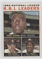 1963 National League R.B.I. Leaders (Hank Aaron, Ken Boyer, Bill White)