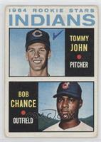 1964 Rookie Stars Indians (Tommy John, Bob Chance) [Poor to Fair]