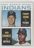 1964 Rookie Stars Indians (Tommy John, Bob Chance)