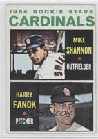 Cardinals Rookie Stars (Mike Shannon, Harry Fanok)