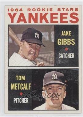 1964 Topps #281 - Yankees Rookie Stars (Jake Gibbs, Tom Metcalf)