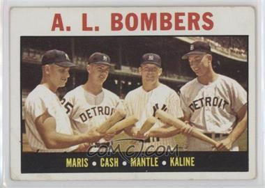 1964 Topps #331 - A.L. Bombers (Roger Maris, Norm Cash, Mickey Mantle, Al Kaline) [GoodtoVG‑EX]