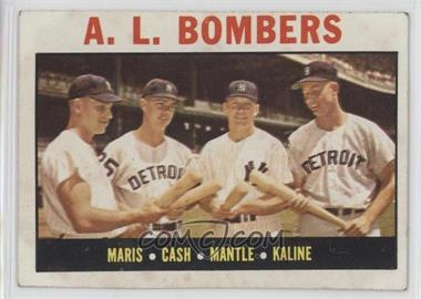 1964 Topps #331 - A.L. Bombers (Roger Maris, Norm Cash, Mickey Mantle, Al Kaline) [Good to VG‑EX]