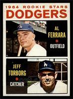 Dodgers Rookie Stars (Al Ferrara, Jeff Torborg) [NM]