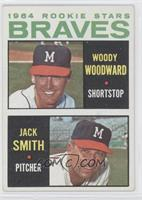 Braves Rookie Stars (Woody Woodward, Jack Smith)