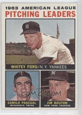 1964 Topps #4 - Whitey Ford, Camilo Pascual, Jim Bouton