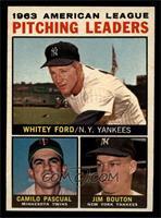 Whitey Ford, Camilo Pascual, Jim Bouton [NM]