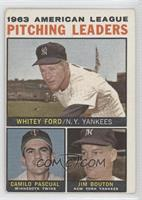 Whitey Ford, Camilo Pascual, Jim Bouton [Good to VG‑EX]