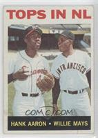Tops in NL (Hank Aaron, Willie Mays) [Poor to Fair]