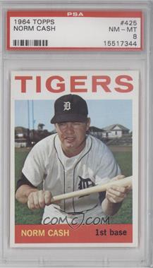 1964 Topps #425 - Norm Cash [PSA8]