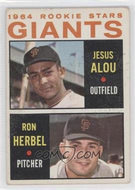 1964 Topps #47 - Jesus Alou, Ron Herbel