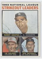 Sandy Koufax, Jim Maloney, Don Drysdale