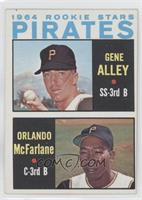 Pirates Rookie Stars (Gene Alley, Orlando McFarlane)
