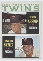 Rookie Stars Twins (Jerry Arrigo, Dwight Siebler)