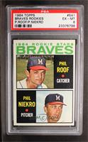 Phil Roof, Phil Niekro [PSA 6]