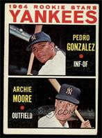 Yankees Rookie Stars (Pedro Gonzalez, Archie Moore) [VG]