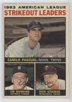 1963 American League Strikeout Leaders (Camilo Pascual, Jim Bunning, Dick Stigm…