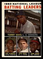 Tommy Davis, Roberto Clemente, Hank Aaron, Dick Groat [VG]