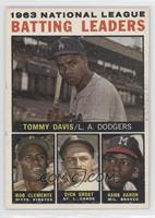 Tommy Davis, Roberto Clemente, Hank Aaron, Dick Groat [Good to VG&#82…