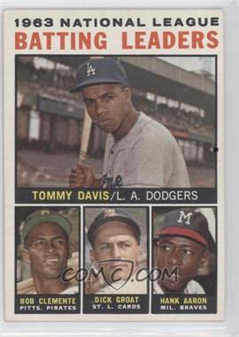 1964 Topps #7 - Tommy Davis, Roberto Clemente, Hank Aaron, Dick Groat