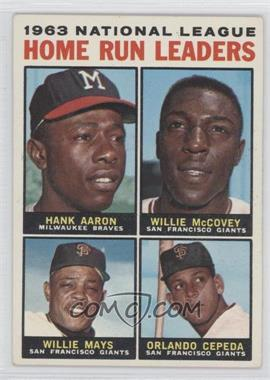 1964 topps 9   1963 national league home run leaders