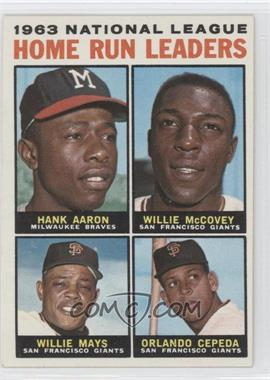 1964 Topps #9 - 1963 National League Home Run Leaders (Hank Aaron, Willie McCovey, Willie Mays, Orlando Cepeda)