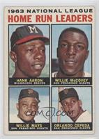Hank Aaron, Willie McCovey, Willie Mays, Orlando Cepeda [Good to VG&#…