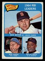 Ken Boyer, Ron Santo, Willie Mays [EX MT]