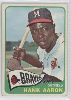1965 Topps - [Base] #170 - Hank Aaron [Good to VG‑EX]