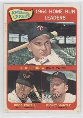 1965 Topps - [Base] #3 - American League Home Run Leaders (Harmon Killebrew, Boog Powell, Mickey Mantle)