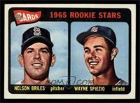 Cardinals 1965 Rookie Stars (Nelson Briles, Wayne Spiezio) [EXMT]