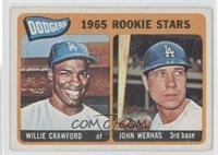 Dodgers 1965 Rookie Stars (Willie Crawford, Johnny Werhas)