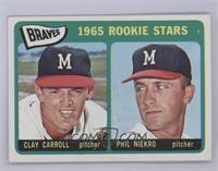 Braves 1965 Rookie Stars (Clay Carroll, Phil Niekro) [Excellent]