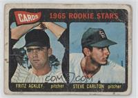 Cards 1965 Rookie Stars (Fritz Ackley, Steve Carlton) [Poor]