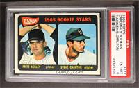 Cards 1965 Rookie Stars (Fritz Ackley, Steve Carlton) [PSA6]