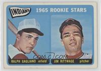 Indians 1965 Rookie Stars (Ralph Gagliano, Jim Rittwage) [GoodtoVG&…