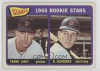 Giants 1965 Rookie Stars (Frank Linzy, Bob Schroder) [GoodtoVG&#820…