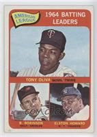 American League 1964 Batting Leaders (Tony Oliva, Brooks Robinson, Elston Howar…