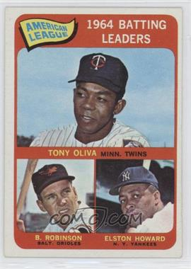 1965 Topps #1 - American League 1964 Batting Leaders (Tony Oliva, Brooks Robinson, Elston Howard)