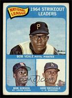 National League 1964 Strikeout Leaders (Bob Veale, Bob Gibson, Don Drysdale) [G…