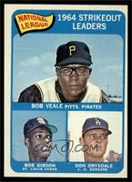 National League 1964 Strikeout Leaders (Bob Veale, Bob Gibson, Don Drysdale) [N…