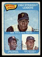National League 1964 Strikeout Leaders (Bob Veale, Bob Gibson, Don Drysdale) [V…
