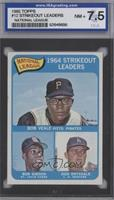 National League 1964 Strikeout Leaders (Bob Veale, Bob Gibson, Don Drysdale) [E…