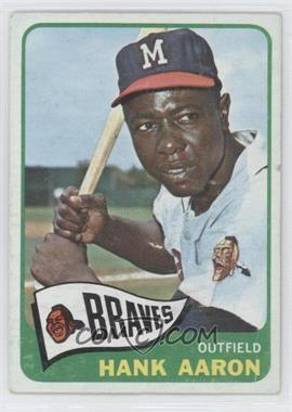 1965 Topps #170 - Hank Aaron [Good to VG‑EX]